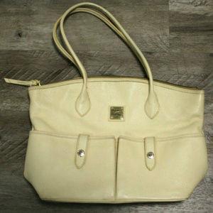 Dooney & Bourke Beige Leather Purse Tote Bag